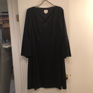 Beyond Ashley Graham Cross Front Flare Dress
